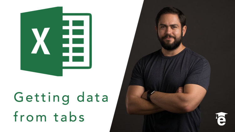 getting data from tabs in excel