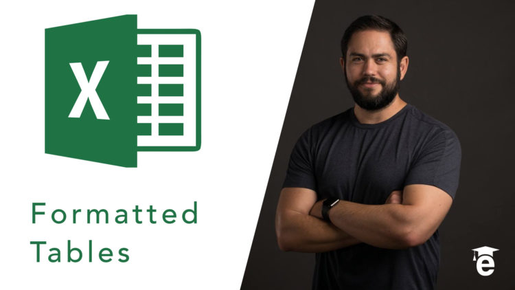 how to formatted tables excel