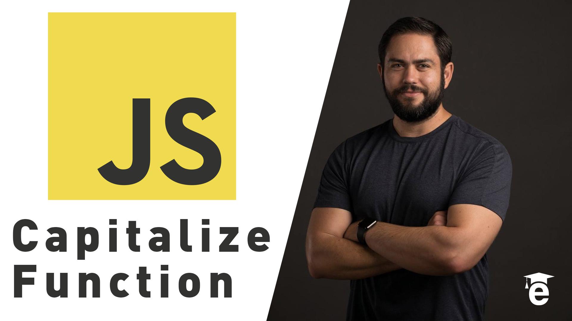javascript capitalize function tutorial